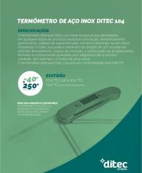 DITEC 104 TERMOMETRO DIGITAL AÇO INOX DOBRAVEL